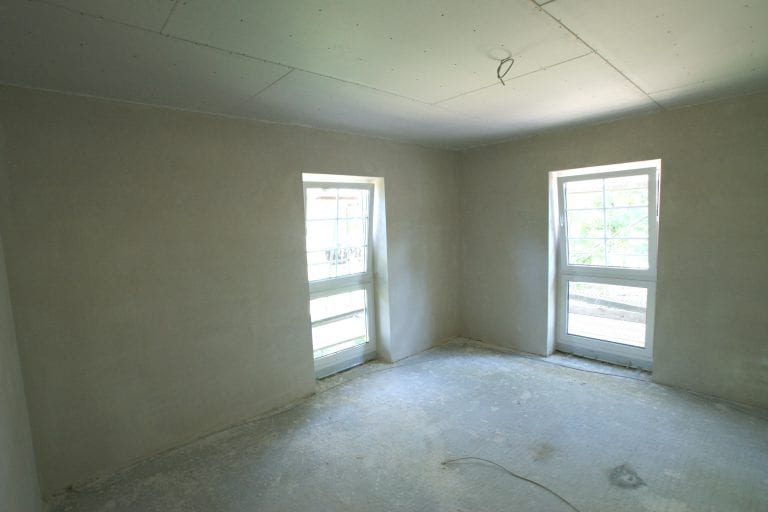 Schlafzimmer im Rohbau
